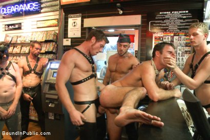 Photo number 12 from Sexy stud Cameron Kincade - The Folsom Street Whore shot for Bound in Public on Kink.com. Featuring Connor Maguire, Cameron Kincade and Jessie Colter in hardcore BDSM & Fetish porn.
