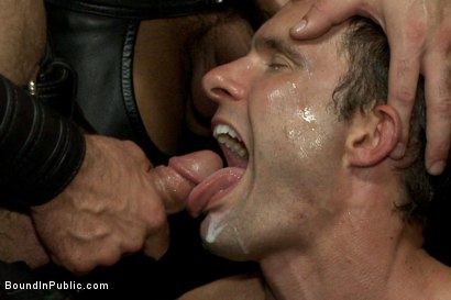 Photo number 14 from Folsom Street Whore tormented in front of thousands of people   shot for Bound in Public on Kink.com. Featuring Connor Maguire, Cameron Kincade and Jessie Colter in hardcore BDSM & Fetish porn.