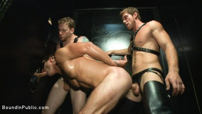 Photo number 11 from Folsom Street Whore tormented in front of thousands of people   shot for Bound in Public on Kink.com. Featuring Connor Maguire, Cameron Kincade and Jessie Colter in hardcore BDSM & Fetish porn.