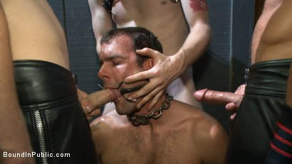 Photo number 8 from Folsom Street Whore tormented in front of thousands of people   shot for Bound in Public on Kink.com. Featuring Connor Maguire, Cameron Kincade and Jessie Colter in hardcore BDSM & Fetish porn.