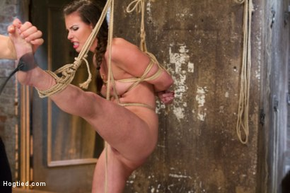Photo number 6 from Porn Starlet Endures Crazy Orgasms in Brutal Bondage Positions shot for Hogtied on Kink.com. Featuring Casey Calvert in hardcore BDSM & Fetish porn.