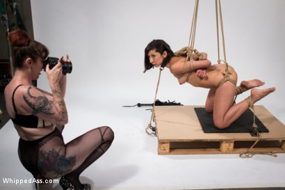 Photo number 12 from Mz. Berlin Clamps, Whips, and Double Stuffs Newbie Vivi Marie shot for Whipped Ass on Kink.com. Featuring Mz Berlin and Vivi Marie in hardcore BDSM & Fetish porn.