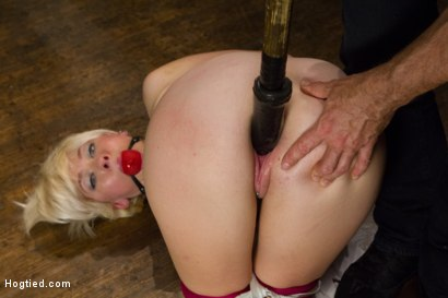 Blond College Student Tied Tight and Brutally Fucked
