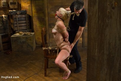 Photo number 11 from Blond College Student Tied Tight and Brutally Fucked    shot for Hogtied on Kink.com. Featuring Lexi LaRue in hardcore BDSM & Fetish porn.