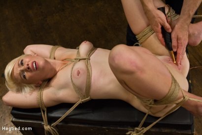 Photo number 15 from Blond College Student Tied Tight and Brutally Fucked    shot for Hogtied on Kink.com. Featuring Lexi LaRue in hardcore BDSM & Fetish porn.