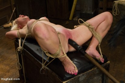 Photo number 19 from Blond College Student Tied Tight and Brutally Fucked    shot for Hogtied on Kink.com. Featuring Lexi LaRue in hardcore BDSM & Fetish porn.