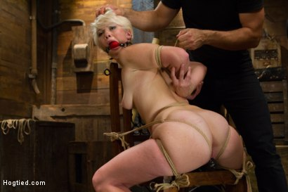 Photo number 10 from Blond College Student Tied Tight and Brutally Fucked    shot for Hogtied on Kink.com. Featuring Lexi LaRue in hardcore BDSM & Fetish porn.