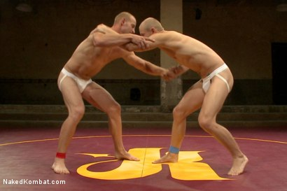 Photo number 3 from Naked Kombat's Summer Smackdown Tournament - 1st Quarter Final Match! shot for Naked Kombat on Kink.com. Featuring Randall O'Reilly and Patrick Rouge in hardcore BDSM & Fetish porn.