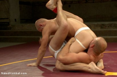 Photo number 4 from Naked Kombat's Summer Smackdown Tournament - 1st Quarter Final Match! shot for Naked Kombat on Kink.com. Featuring Randall O'Reilly and Patrick Rouge in hardcore BDSM & Fetish porn.