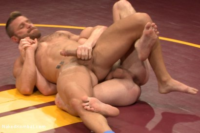 Photo number 3 from Naked Kombat's Summer Smackdown Tournament - First Semi-Final Match shot for Naked Kombat on Kink.com. Featuring Landon Conrad and Doug Acre in hardcore BDSM & Fetish porn.