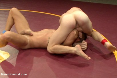 Photo number 4 from Naked Kombat's Summer Smackdown Tournament - First Semi-Final Match shot for Naked Kombat on Kink.com. Featuring Landon Conrad and Doug Acre in hardcore BDSM & Fetish porn.