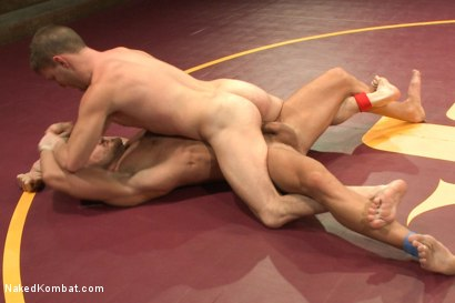 Photo number 7 from Naked Kombat's Summer Smackdown Tournament - First Semi-Final Match shot for Naked Kombat on Kink.com. Featuring Landon Conrad and Doug Acre in hardcore BDSM & Fetish porn.