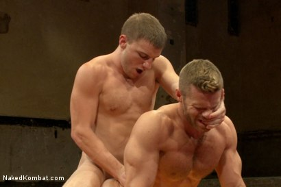 Photo number 12 from Naked Kombat's Summer Smackdown Tournament - First Semi-Final Match shot for Naked Kombat on Kink.com. Featuring Landon Conrad and Doug Acre in hardcore BDSM & Fetish porn.