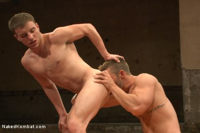 Photo number 11 from Naked Kombat's Summer Smackdown Tournament - First Semi-Final Match shot for Naked Kombat on Kink.com. Featuring Landon Conrad and Doug Acre in hardcore BDSM & Fetish porn.