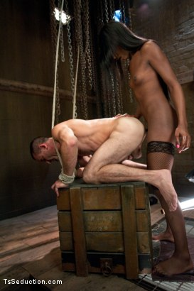 Photo number 8 from Romantic Cabin turns into A Haunted Sex Dungeon w/Ms. Toya & her CCOK shot for TS Seduction on Kink.com. Featuring Ms. Toya and Jason Miller in hardcore BDSM & Fetish porn.