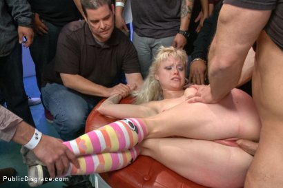 Photo number 12 from Innocent girl next door defiled in public shot for Public Disgrace on Kink.com. Featuring John Strong and Elyssa Greene in hardcore BDSM & Fetish porn.