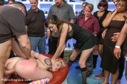 Photo number 14 from Innocent girl next door defiled in public shot for Public Disgrace on Kink.com. Featuring John Strong and Elyssa Greene in hardcore BDSM & Fetish porn.