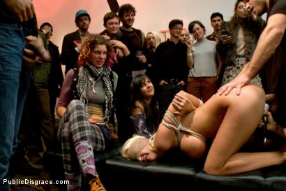 Photo number 13 from Fuckable Art! Big titted blonde fucked in a crowded gallery shot for Public Disgrace on Kink.com. Featuring Courtney Taylor and Bill Bailey in hardcore BDSM & Fetish porn.
