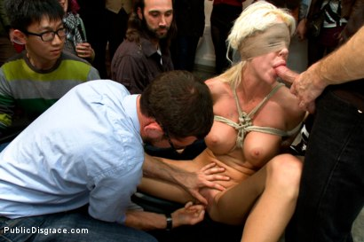 Photo number 6 from Fuckable Art! Big titted blonde fucked in a crowded gallery shot for Public Disgrace on Kink.com. Featuring Courtney Taylor and Bill Bailey in hardcore BDSM & Fetish porn.