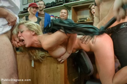 Photo number 15 from Hot blonde fucked and disgraced in a typewriter shop shot for Public Disgrace on Kink.com. Featuring Ramon Nomar and Cherie DeVille in hardcore BDSM & Fetish porn.