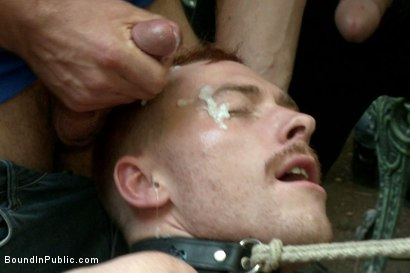 Photo number 7 from Lazy employee abused and humiliated by coworkers at Stompers Boots  shot for Bound in Public on Kink.com. Featuring Connor Maguire, Bryan Cavallo and Damien Moreau in hardcore BDSM & Fetish porn.