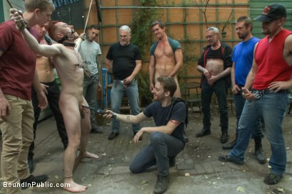 Photo number 8 from Lazy employee abused and humiliated by coworkers at Stompers Boots  shot for Bound in Public on Kink.com. Featuring Connor Maguire, Bryan Cavallo and Damien Moreau in hardcore BDSM & Fetish porn.