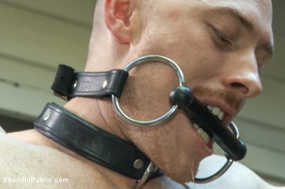 Photo number 11 from Lazy employee abused and humiliated by coworkers at Stompers Boots  shot for Bound in Public on Kink.com. Featuring Connor Maguire, Bryan Cavallo and Damien Moreau in hardcore BDSM & Fetish porn.