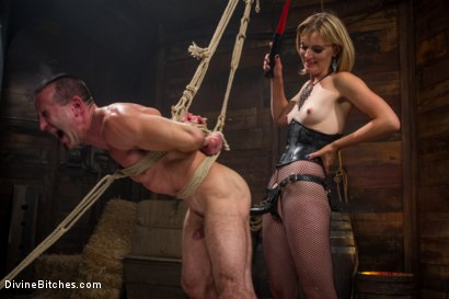 Photo number 10 from Bitch Boy in a Barn: Lifestyle Dominatrix Abuses and Fucks Slave Boy shot for Divine Bitches on Kink.com. Featuring Jason Miller and Mona Wales in hardcore BDSM & Fetish porn.