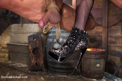 Photo number 2 from Bitch Boy in a Barn: Lifestyle Dominatrix Abuses and Fucks Slave Boy shot for Divine Bitches on Kink.com. Featuring Jason Miller and Mona Wales in hardcore BDSM & Fetish porn.