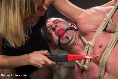 Photo number 3 from Bitch Boy in a Barn: Lifestyle Dominatrix Abuses and Fucks Slave Boy shot for Divine Bitches on Kink.com. Featuring Jason Miller and Mona Wales in hardcore BDSM & Fetish porn.