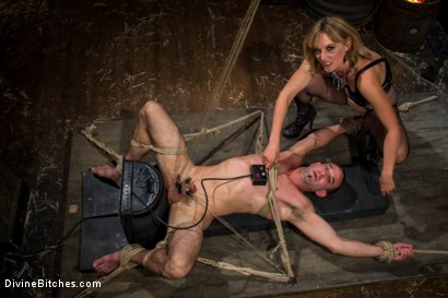 Photo number 4 from Bitch Boy in a Barn: Lifestyle Dominatrix Abuses and Fucks Slave Boy shot for Divine Bitches on Kink.com. Featuring Jason Miller and Mona Wales in hardcore BDSM & Fetish porn.