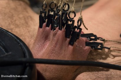 Photo number 15 from Bitch Boy in a Barn: Lifestyle Dominatrix Abuses and Fucks Slave Boy shot for Divine Bitches on Kink.com. Featuring Jason Miller and Mona Wales in hardcore BDSM & Fetish porn.