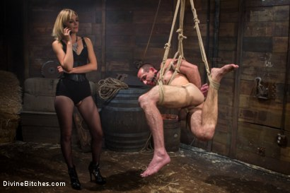 Photo number 9 from Bitch Boy in a Barn: Lifestyle Dominatrix Abuses and Fucks Slave Boy shot for Divine Bitches on Kink.com. Featuring Jason Miller and Mona Wales in hardcore BDSM & Fetish porn.