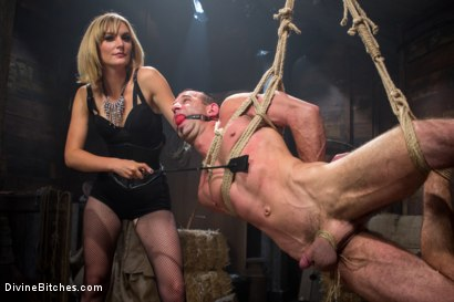 Photo number 8 from Bitch Boy in a Barn: Lifestyle Dominatrix Abuses and Fucks Slave Boy shot for Divine Bitches on Kink.com. Featuring Jason Miller and Mona Wales in hardcore BDSM & Fetish porn.