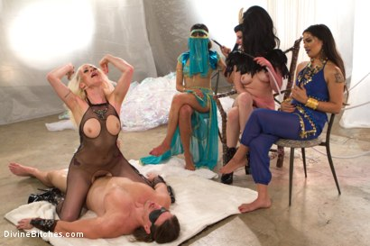 Photo number 7 from The Black Queen and the Essence of Man  shot for Divine Bitches on Kink.com. Featuring Lorelei Lee, Maitresse Madeline Marlowe , Kip Johnson, Santiago and Reed Jameson in hardcore BDSM & Fetish porn.
