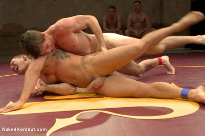 """Photo number 6 from Bryan """"The Cowboy"""" Cavallo vs Tate """"The Aussie"""" Ryder shot for Naked Kombat on Kink.com. Featuring Bryan Cavallo and Tate Ryder in hardcore BDSM & Fetish porn."""