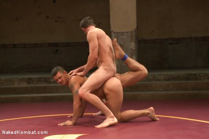 """Photo number 11 from Bryan """"The Cowboy"""" Cavallo vs Tate """"The Aussie"""" Ryder shot for Naked Kombat on Kink.com. Featuring Bryan Cavallo and Tate Ryder in hardcore BDSM & Fetish porn."""