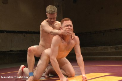 "Photo number 13 from Damien ""The Masochist"" Moreau vs Liam ""Hardball"" Harkmoore shot for Naked Kombat on Kink.com. Featuring Liam Harkmoore and Damien Moreau in hardcore BDSM & Fetish porn."