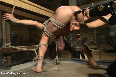 Photo number 10 from Hot dock worker taken down and his aching hard cock edged by two pervs shot for Men On Edge on Kink.com. Featuring Connor Patricks in hardcore BDSM & Fetish porn.