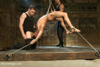 Photo number 6 from Hot dock worker taken down and his aching hard cock edged by two pervs shot for Men On Edge on Kink.com. Featuring Connor Patricks in hardcore BDSM & Fetish porn.