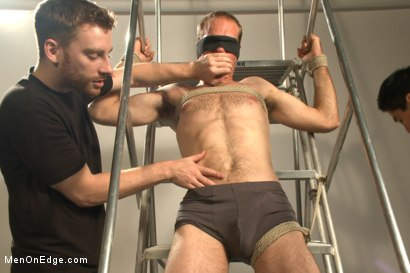 Photo number 4 from Straight stud bound, edged and milked multiple loads  shot for menonedge on Kink.com. Featuring Jonah Marx in hardcore BDSM & Fetish porn.