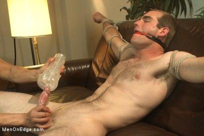 Gay bound milked