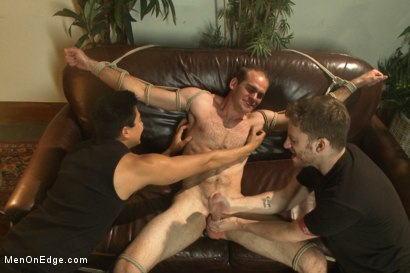 Photo number 14 from Straight stud bound, edged and milked multiple loads  shot for Men On Edge on Kink.com. Featuring Jonah Marx in hardcore BDSM & Fetish porn.