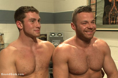 Photo number 15 from Sexual Aversion Therapy shot for Bound Gods on Kink.com. Featuring Connor Maguire and Sebastian Rossi in hardcore BDSM & Fetish porn.