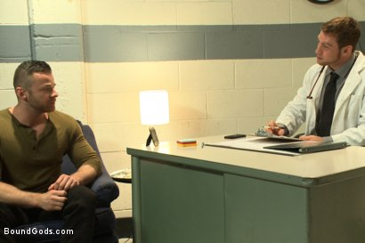 Photo number 1 from Sexual Aversion Therapy shot for Bound Gods on Kink.com. Featuring Connor Maguire and Sebastian Rossi in hardcore BDSM & Fetish porn.