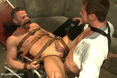 Photo number 7 from Sexual Aversion Therapy shot for Bound Gods on Kink.com. Featuring Connor Maguire and Sebastian Rossi in hardcore BDSM & Fetish porn.