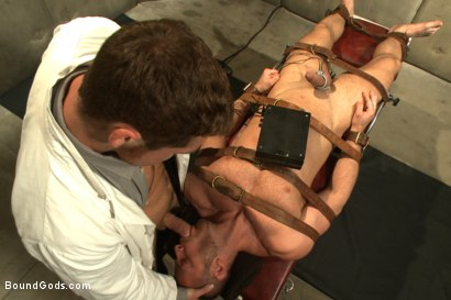 Photo number 5 from Sexual Aversion Therapy shot for Bound Gods on Kink.com. Featuring Connor Maguire and Sebastian Rossi in hardcore BDSM & Fetish porn.