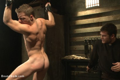 Photo number 13 from Sermon Not Semen! shot for Bound Gods on Kink.com. Featuring Hayden Richards and Doug Acre in hardcore BDSM & Fetish porn.