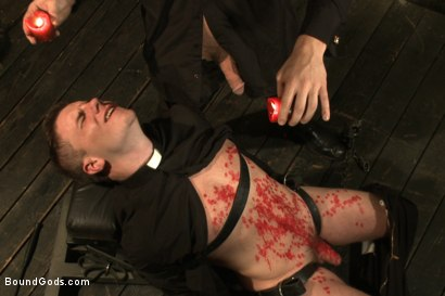 Photo number 15 from Sermon Not Semen! shot for Bound Gods on Kink.com. Featuring Hayden Richards and Doug Acre in hardcore BDSM & Fetish porn.