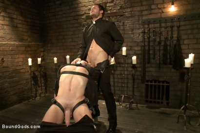 Photo number 17 from Sermon Not Semen! shot for Bound Gods on Kink.com. Featuring Hayden Richards and Doug Acre in hardcore BDSM & Fetish porn.